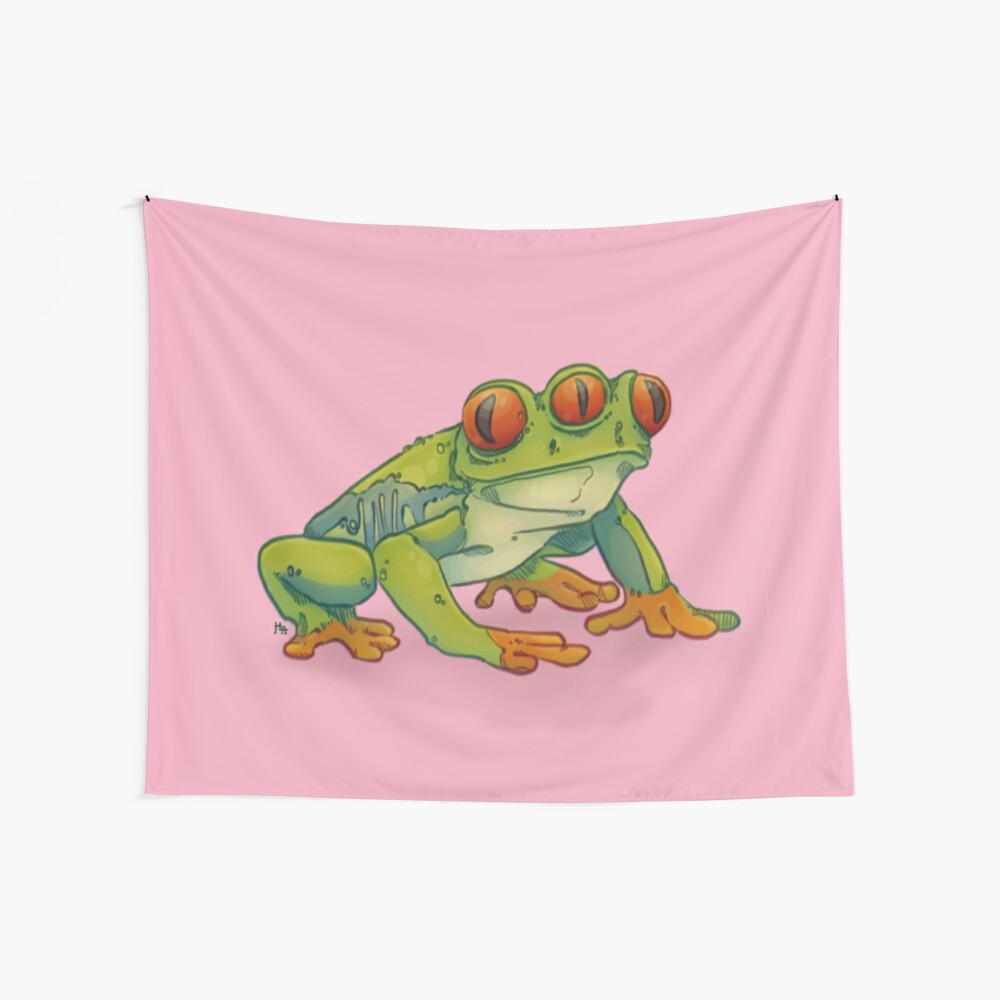 3 EYES FROG Wall Tapestry