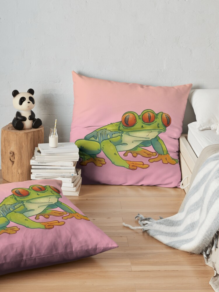 Alternate view of 3 EYES FROG Floor Pillow