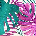 Regenwald-Überdachung tropische Blätter II von Glimmersmith