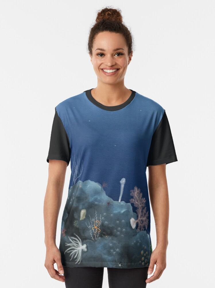 Alternate view of Deep ocean vista - Johnston Atoll Graphic T-Shirt