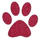 Katzenpfoten-Imitat-Rosa-Glitter von ValeriesGallery