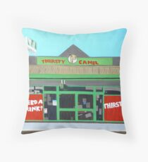 Thirsty Camel Throw Pillow