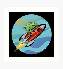 Space Tardigrade: Intrepid Explorer Art Print