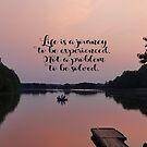 Das Leben ist eine Reise von vigor