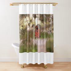 A little bird house Shower Curtain