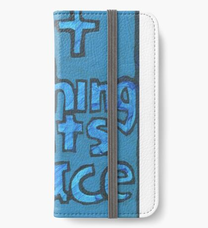 Put Nothing in Its Place - Brianna Keeper Painting iPhone Wallet