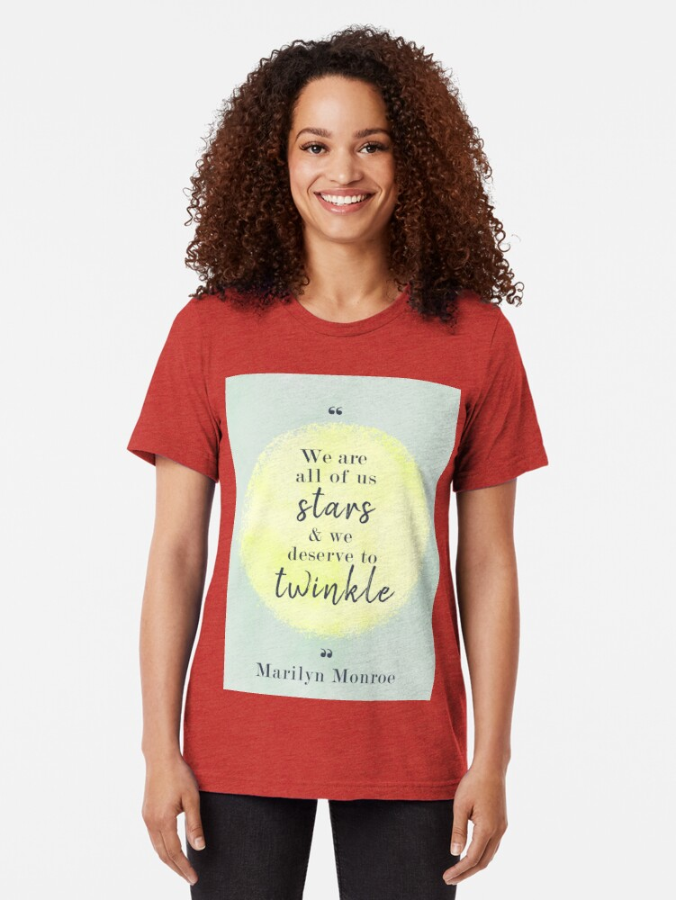 Alternate view of Marilyn Monroe Quote Tri-blend T-Shirt