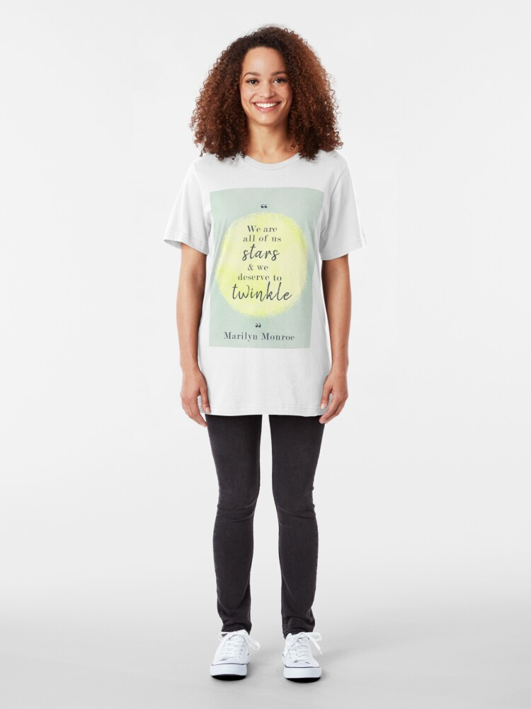Alternate view of Marilyn Monroe Quote Slim Fit T-Shirt
