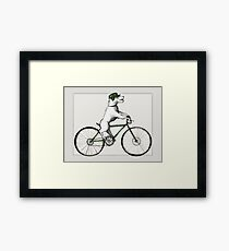 jack russell terrier on bike Framed Print