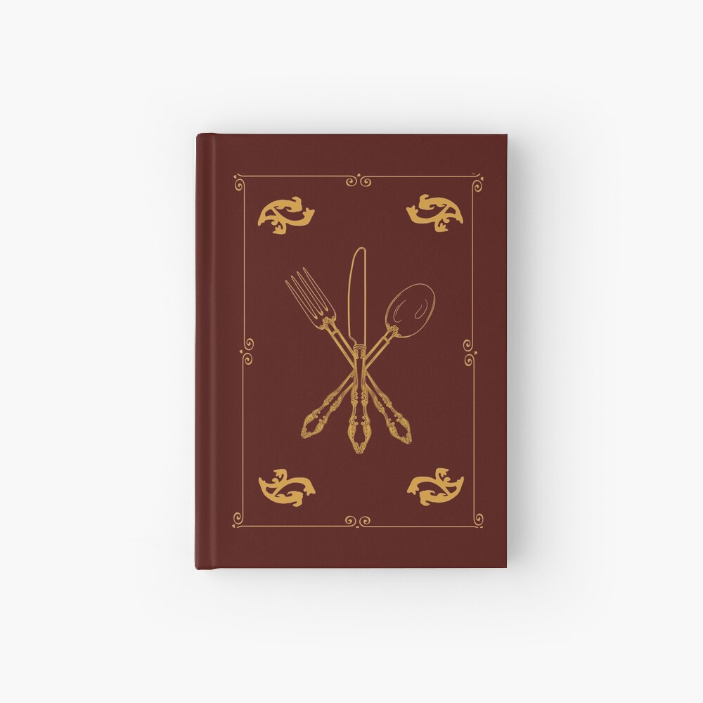 Just Add Magic Utensils Gold with Border Hardcover Journal