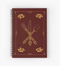Just Add Magic Utensils Gold with Border Spiral Notebook
