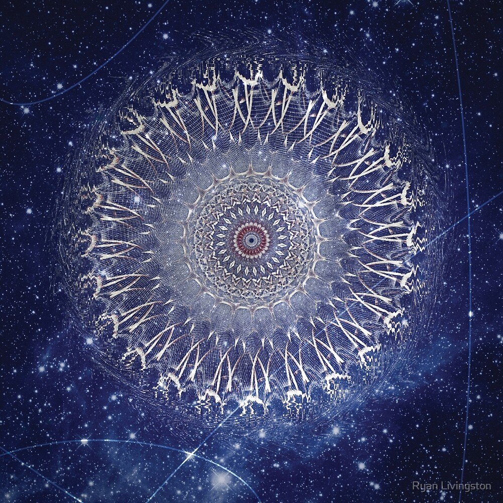 Wormhole - Abstract Space Mandala by Ryan Livingston