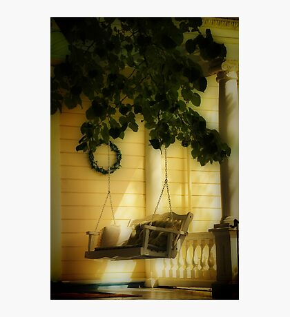 Memories, the Front Porch Swing Photographic Print