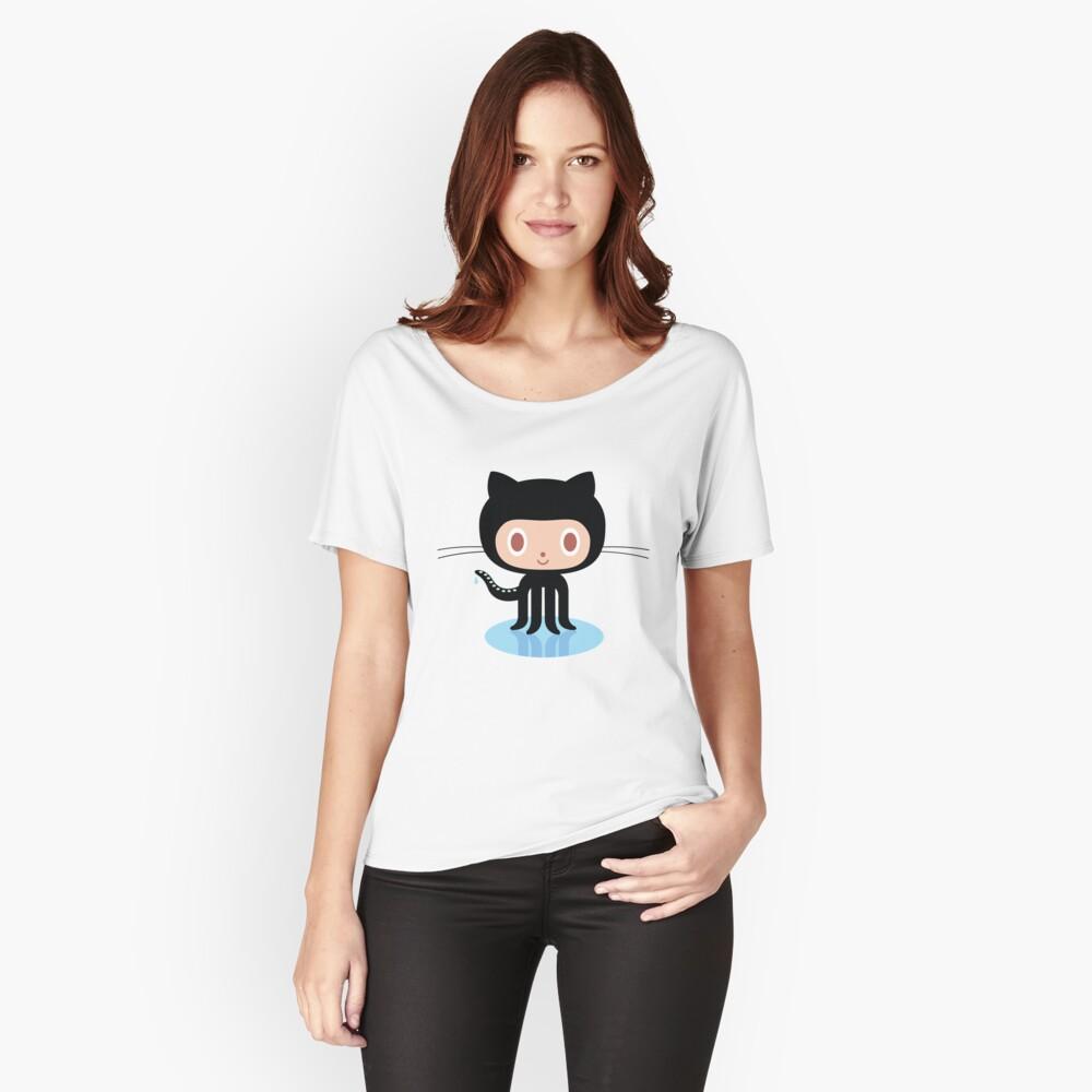 ★ Github octocat Camiseta ancha