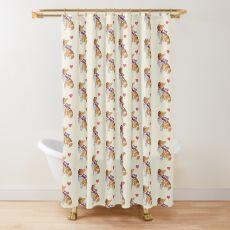 Watercolour Rough Collie Shower Curtain