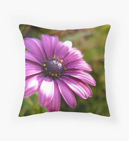purple&green Throw Pillow