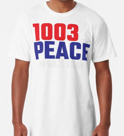 10034 (for) PEACE - No War on Iran! Long T-Shirt