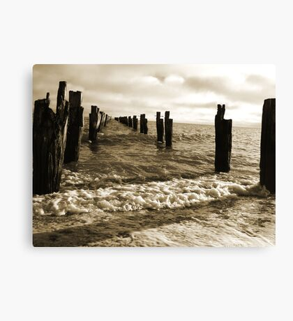 Old Pier near Clifton Springs Canvas Print