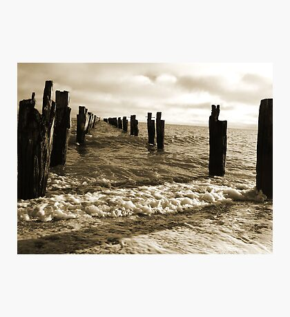 Old Pier near Clifton Springs Photographic Print