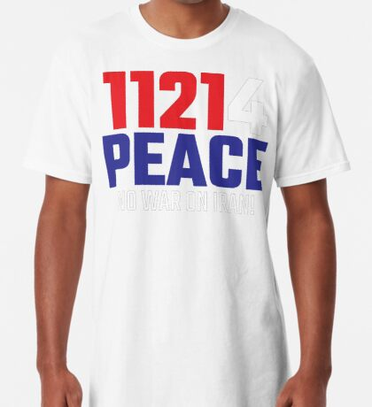 11214 (for) PEACE - No War on Iran! Long T-Shirt
