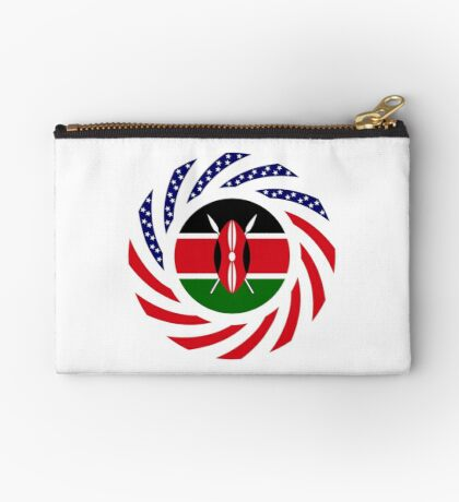 Kenyan American Multinational Patriot Flag Series Zipper Pouch