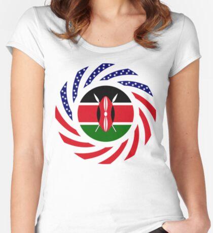 Kenyan American Multinational Patriot Flag Series Fitted Scoop T-Shirt