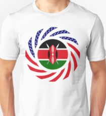 Kenyan American Multinational Patriot Flag Series Slim Fit T-Shirt