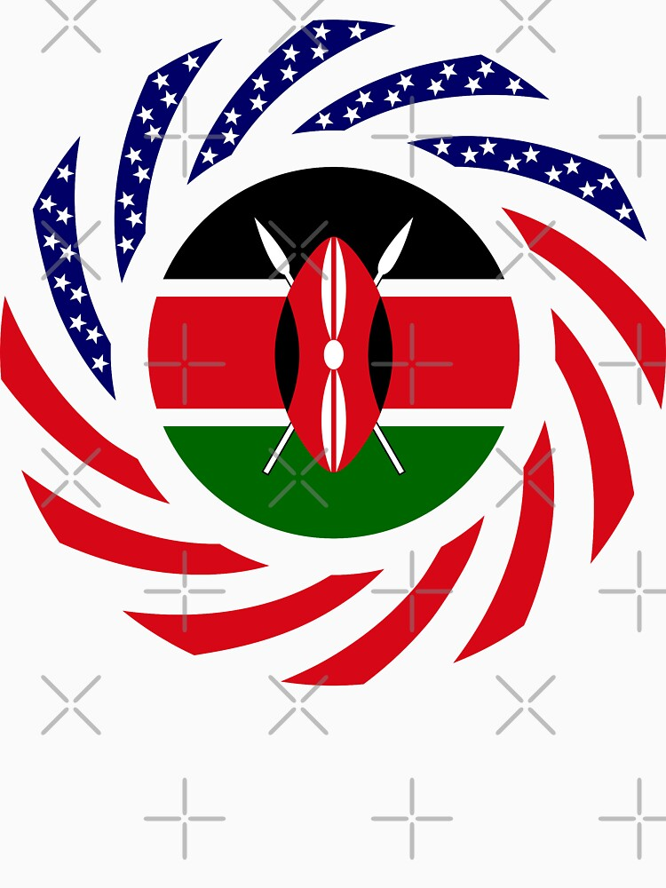 Kenyan American Multinational Patriot Flag Series by carbonfibreme