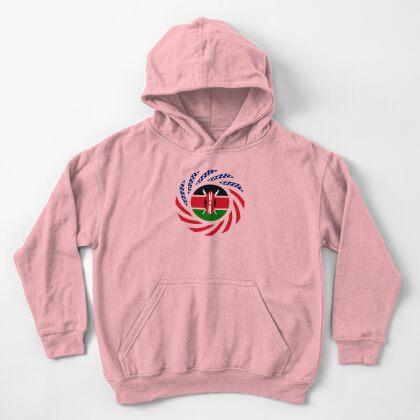 Kenyan American Multinational Patriot Flag Series Kids Pullover Hoodie