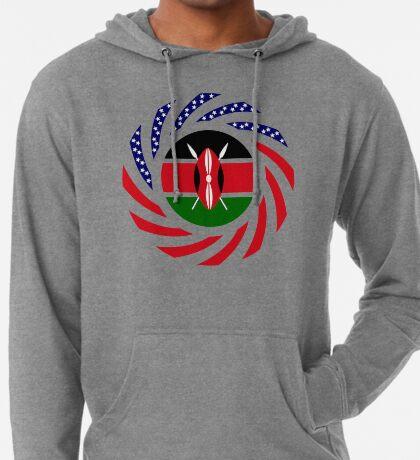 Kenyan American Multinational Patriot Flag Series Lightweight Hoodie