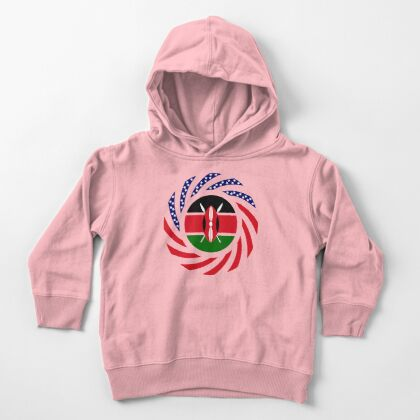 Kenyan American Multinational Patriot Flag Series Toddler Pullover Hoodie