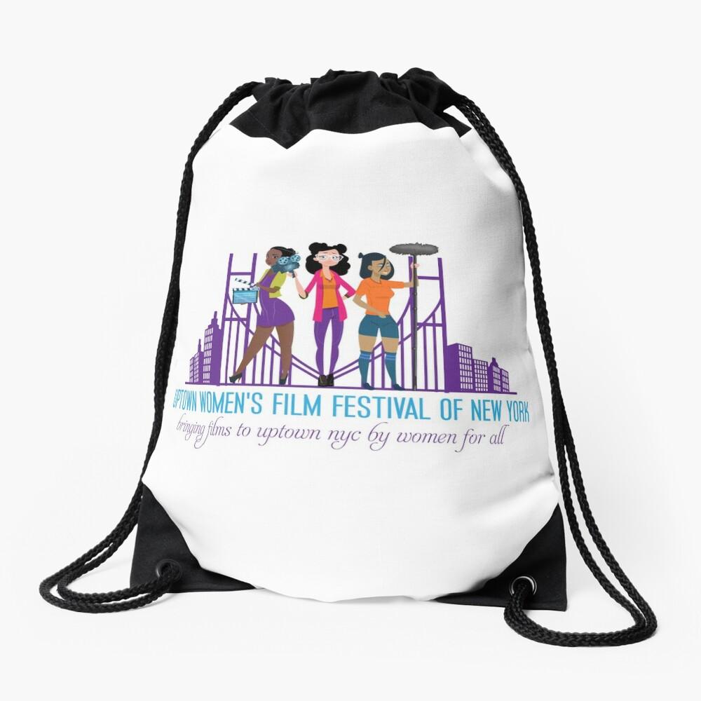 Uptown Women's Film Festival of New York Drawstring Bag