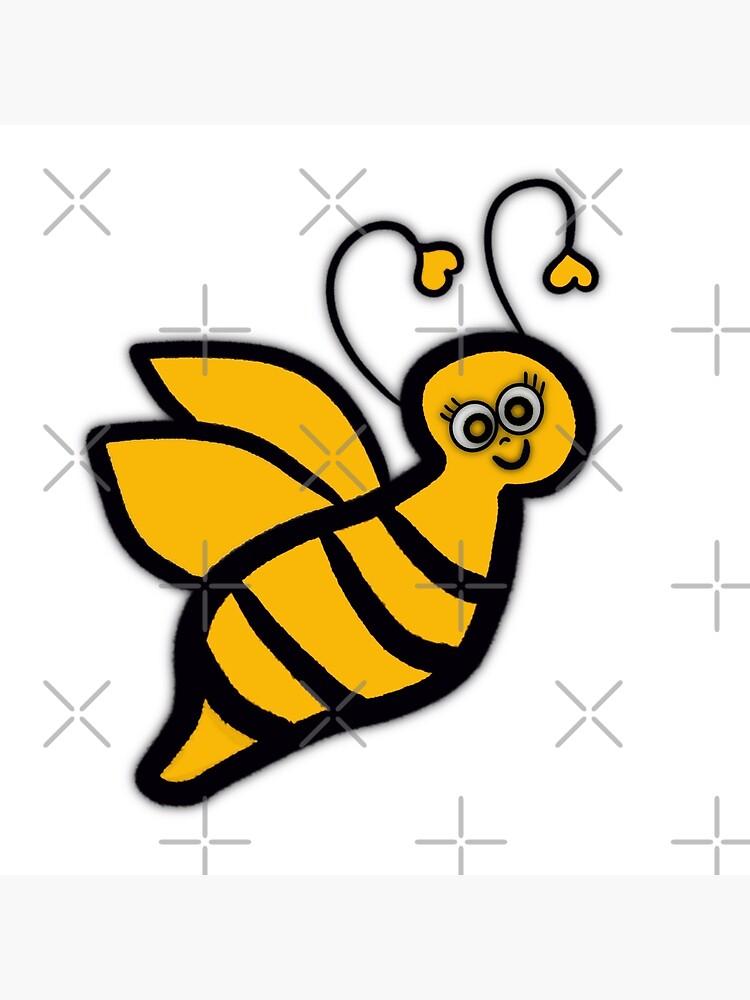 Bee Happy - Yellow Bumblebee  by MoodyArtist