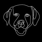 Labrador lined art, continuous line art drawing, dog drawing, line art drawing, pitbull art by PetFriendly