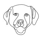 Labrador line art, continuous line art drawing, dog drawing, line art drawing, pitbull art by PetFriendly