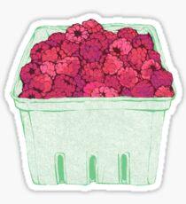 cartoon of raspberries Sticker