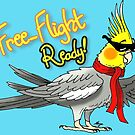 Free-Flight Ready Cockatiel by Skye Elizabeth  Tranter