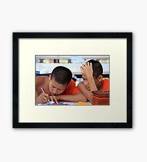 Learned Monks Framed Print