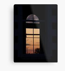 Twilight window  Church,-  Magilligan County Derry Ireland Metal Print