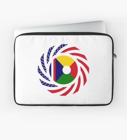 Reunion American Multinational Patriot Flag Series Laptop Sleeve