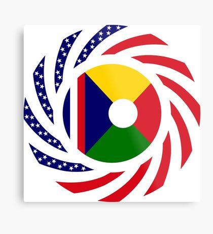 Reunion American Multinational Patriot Flag Series Metal Print