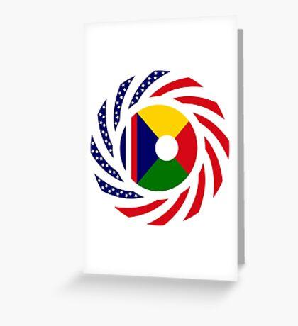 Reunion American Multinational Patriot Flag Series Greeting Card