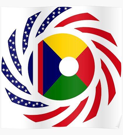 Reunion American Multinational Patriot Flag Series Poster