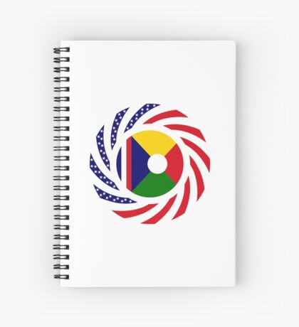 Reunion American Multinational Patriot Flag Series Spiral Notebook