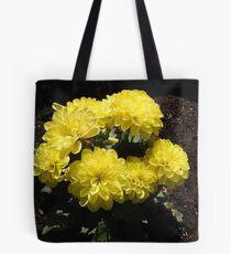 Sonnenschein-Dahlien Tote Bag