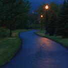 Walking down a spooky trail alone by Brian Dodd