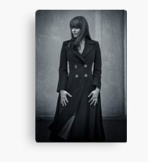 Amanda Tapping - Silver Series Spiral Notebook! Canvas Print