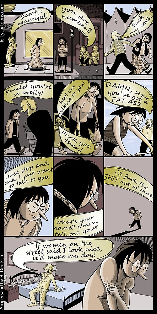Street Harassment (comic about sexual harassment) by Barry Deutsch