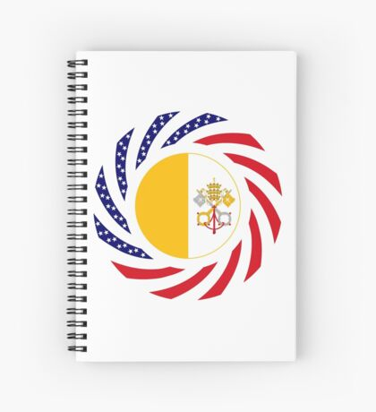 Catholic Murican Patriot Flag Series Spiral Notebook