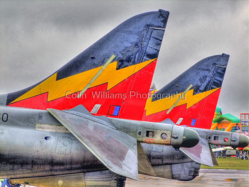 Harrier GR9s - HDR - Shoreham Airshow 2010 by Colin  Williams Photography